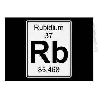 Rb - Rubidium Greeting Card