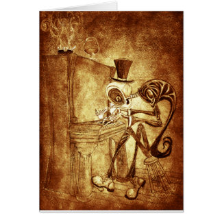 RB the piano player Greeting Card