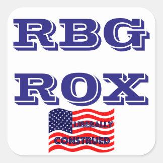 RBG ROX Ginsburg Liberal Democrat Democratic Party Square Sticker
