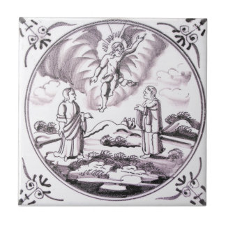 RBT14 Delft Biblical Manganese Red Ceramic Tile