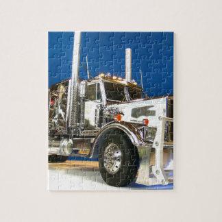 RC ADVENTURES - Chrome Hauler Semi Truck Jigsaw Puzzle