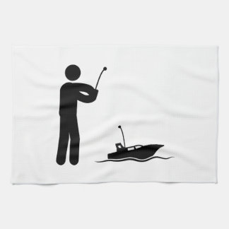 RC Boat Tea Towel