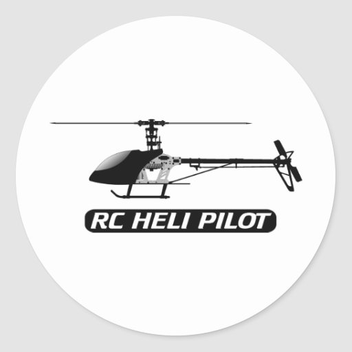 RC Helicopter Pilot Round Stickers