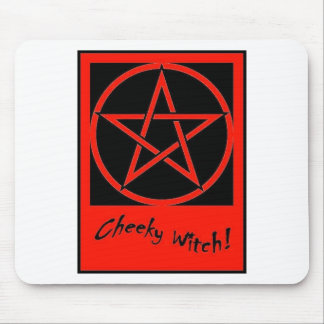 rCheeky Witch Pentagram Collection (Red) Mouse Mat