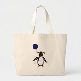 Rcokhopper Penguin Holding Balloon Canvas Bags