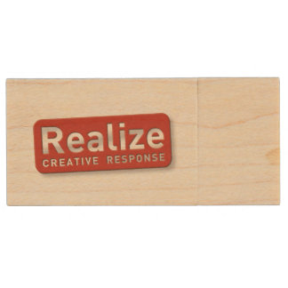 RCR Maple Wood USB 2.0 Flash Drive 8GB