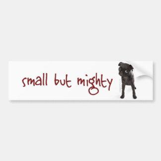 RD Pug Mighty Bumper Sticker
