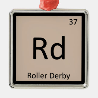 Rd - Roller Derby Sports Chemistry Periodic Table Christmas Ornament