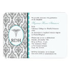 RDH Graduation Dental Hygienist Hygiene damask Card