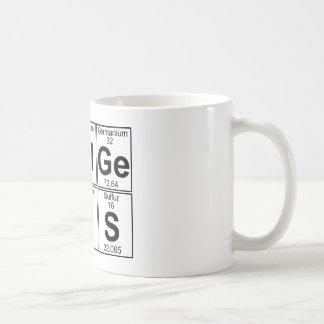 Re-Al-Ge-Ni-U-S (real genius) - Full Basic White Mug