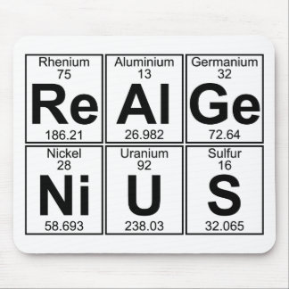 Re-Al-Ge-Ni-U-S (real genius) - Full Mouse Mat