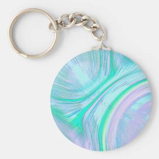 Re-Created Aurora Basic Round Button Keychain
