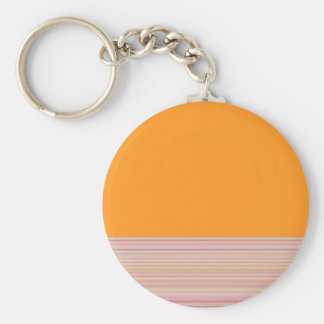Re-Created Color Field & Stripes by Robert S. Lee Basic Round Button Keychain