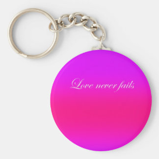 Re-Created Color Field with LOVE by Robert S. Lee Basic Round Button Key Ring