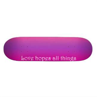 Re-Created Color Field with LOVE by Robert S. Lee Skate Board Deck