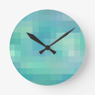 Re-Created Coloured Squares Wall Clock