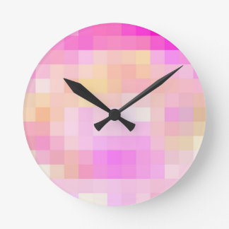 Re-Created Coloured Squares Wallclock