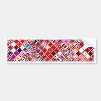 Re-Created Mosaic Bumper Sticker