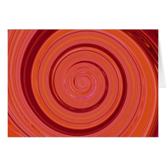 Re-Created Spin Painting Greeting Card