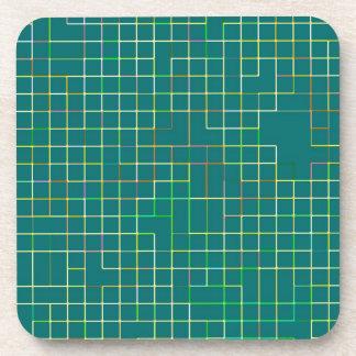 Re-Created Squares Beverage Coaster