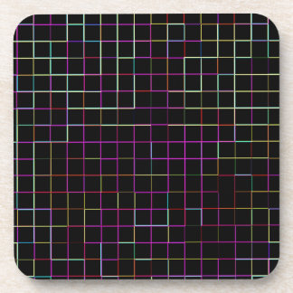 Re-Created Squares Beverage Coasters