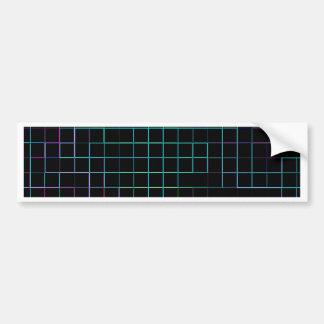 Re-Created Squares Car Bumper Sticker