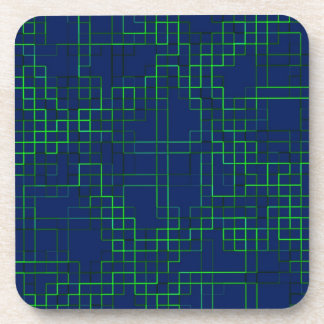 Re-Created Squares Drink Coaster