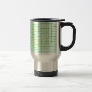 Re-Created Squares 15 Oz Stainless Steel Travel Mug