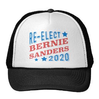 Re-Elect Bernie Sanders 2020 Tri-Color Fonts Cap