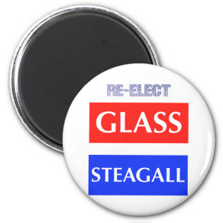 RE-ELECT Glass Steagall 6 Cm Round Magnet