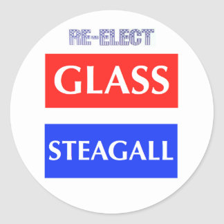 Re-Elect Glass Steagall Round Sticker
