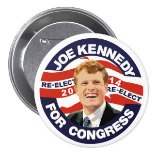 Re-Elect Joe Kennedy 2014 7.5 Cm Round Badge