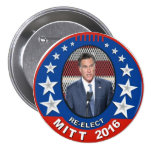 Re-Elect Mitt Romney 2016 Pinback Buttons