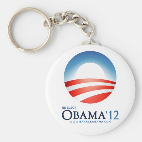 Re-Elect Obama 2012 Basic Round Button Key Ring