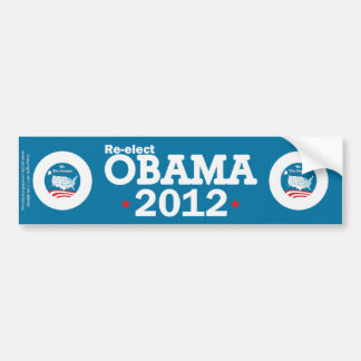 Re-elect Obama 2012 Bumper Sticker