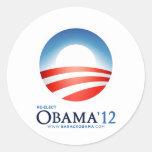 Re-Elect Obama 2012 Classic Round Sticker