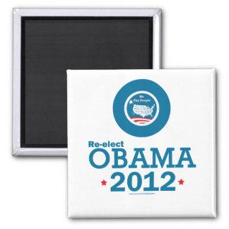 Re-elect Obama 2012 Square Magnet