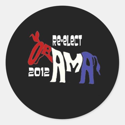 Re-Elect Obama 2012 Round Sticker