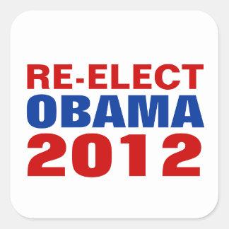 RE-ELECT OBAMA 2012 Sticker Square Sticker
