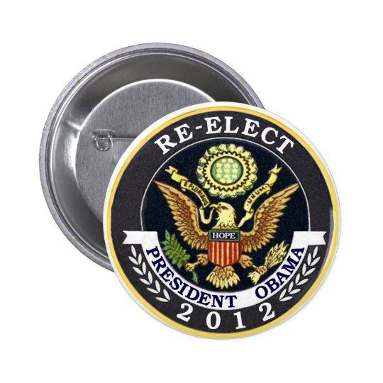 Re-Elect Obama 6 Cm Round Badge