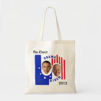 Re-Elect Obama/Biden 2012 Budget Tote Bag