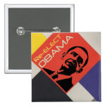 Re-elect Obama: Modern Art design Button
