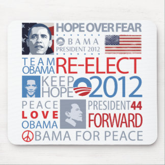 Re-elect Obama Mouse Pads