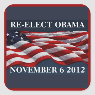 RE-ELECT OBAMA November 6 2012 Stickers