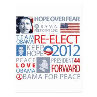 Re-elect Obama Postcard