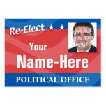 RE-ELECT - Political Campaign Business Cards