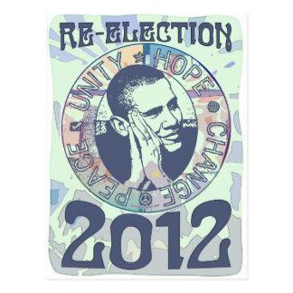 Re-Elect President Obama Election 2012 Gear Postcard