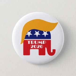 Re-elect President Trump 2020 GOP Elephant Hair 6 Cm Round Badge