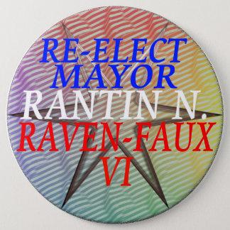 RE-ELECT RANTIN 6 CM ROUND BADGE