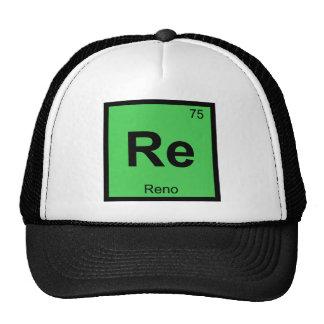 Re - Reno Nevada Chemistry Periodic Table City Cap